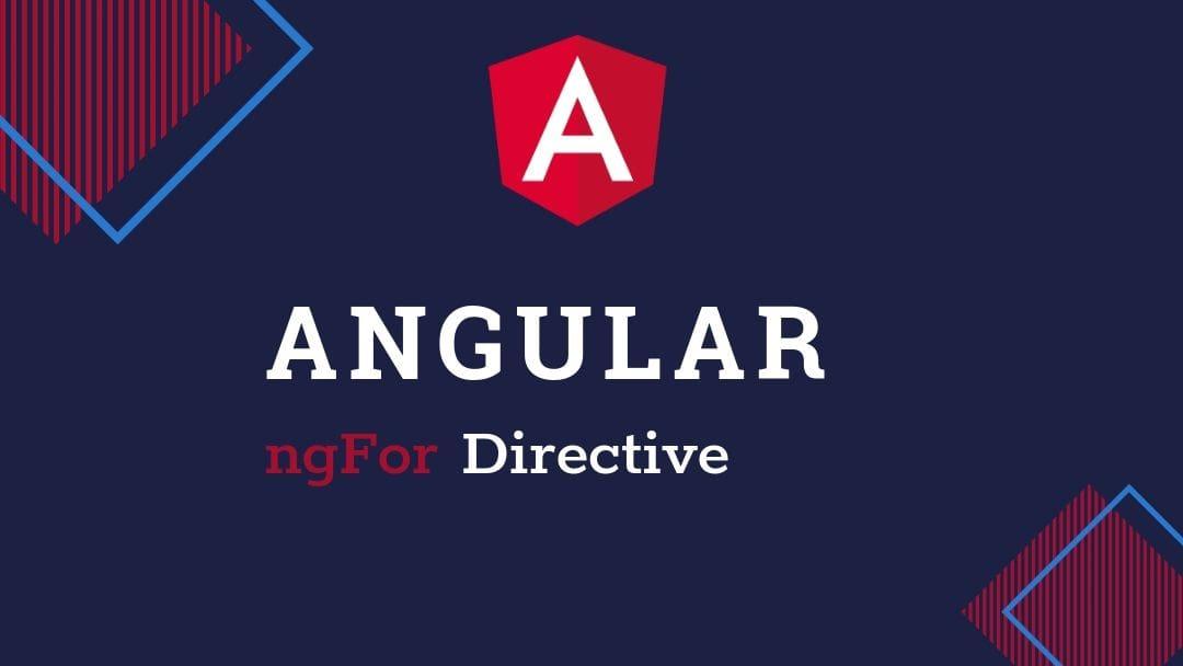 Angular ngFor directive example