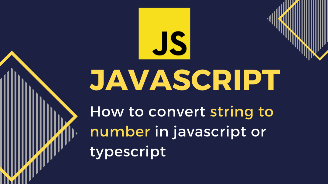 How to convert string to number in javascript or typescript